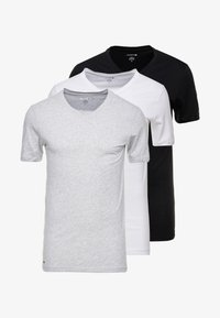 Lacoste - 3 PACK SLIM FIT TEE  - Undershirt - black/mottled grey/white - 6