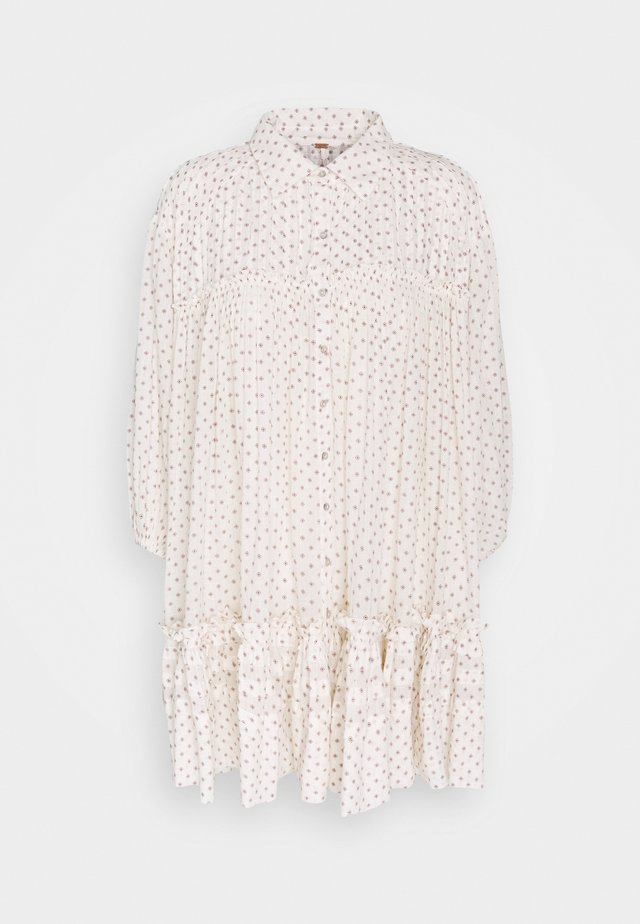 FULL SWING - Vestido camisero - ivory combo