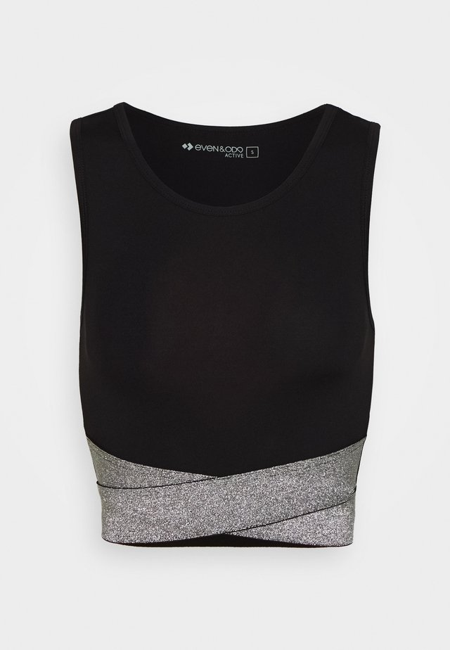 Top - silver/white/black