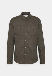 Shirt - mottled dark green