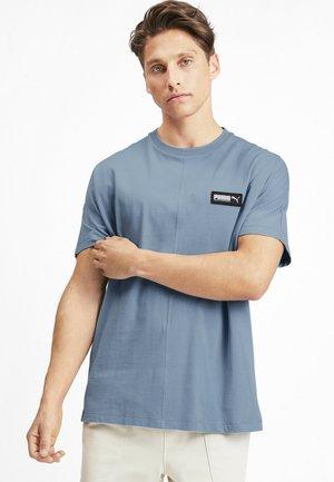 Print T-shirt - faded denim
