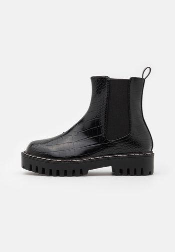 WIDE FIT ZINNIA - Platform ankle boots - black