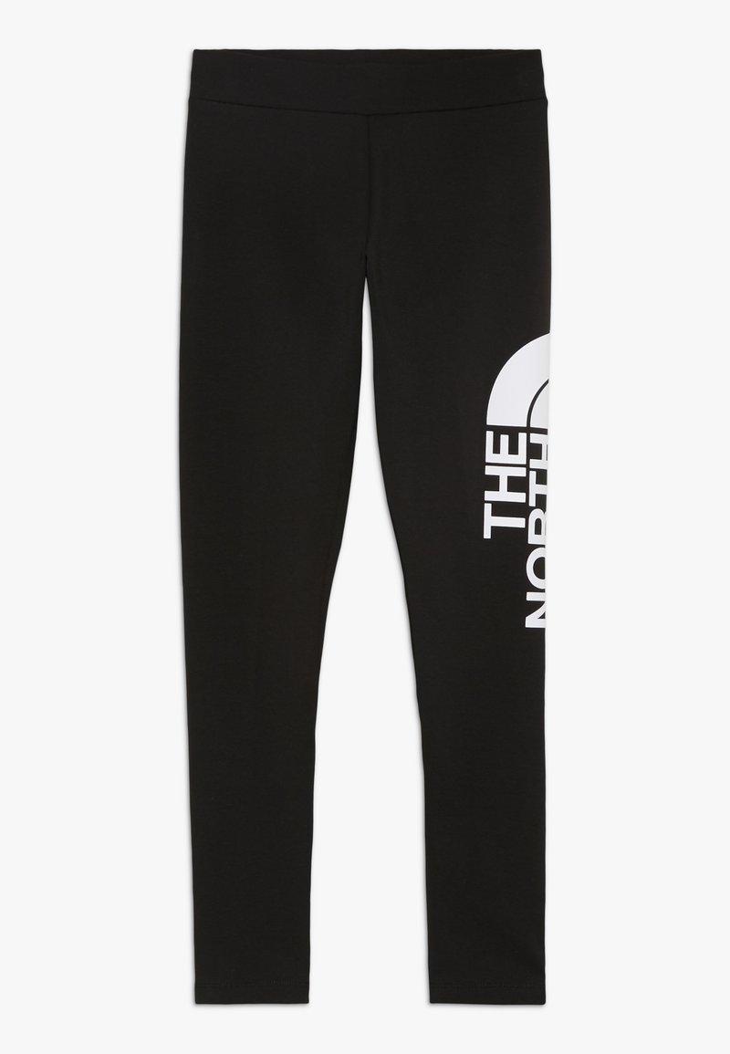 The North Face - GIRLS LEGGING BIG LOGO - Legginsy - black/white