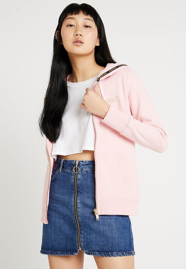 LABEL ELITE ZIPHOOD - Zip-up hoodie - fade pink