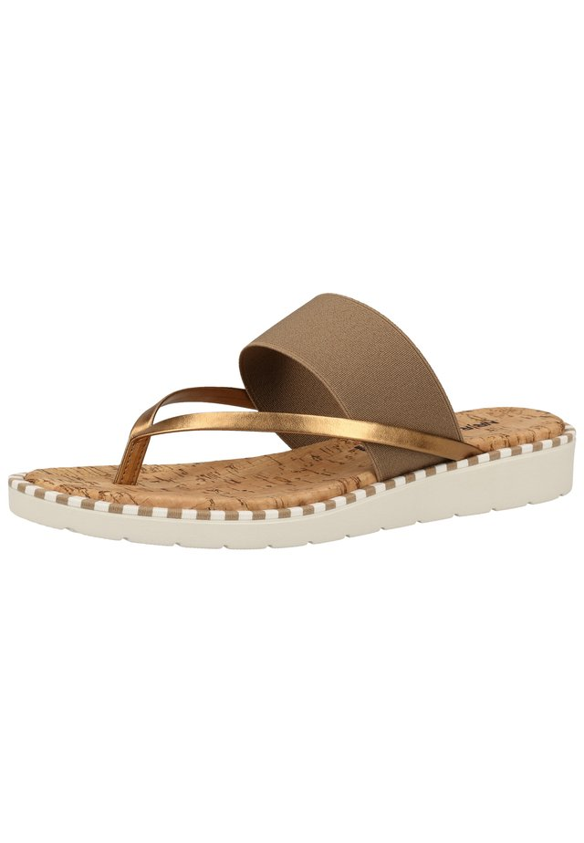 ZEHENSTEG - Slippers - mud/bronze s032
