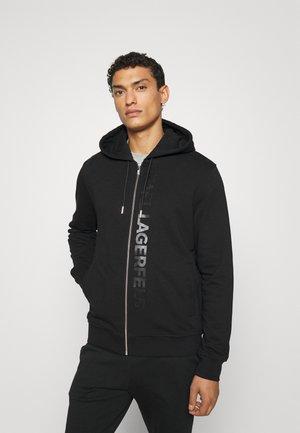 HOODY JACKET - Zip-up sweatshirt - black