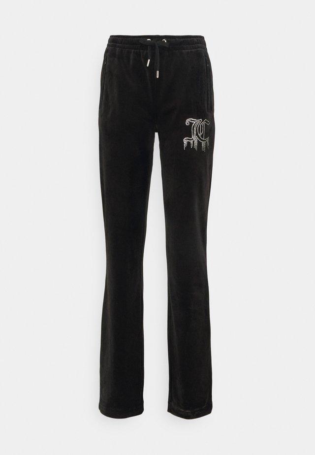 TINA DRIPPING TRACK PANTS - Pantaloni sportivi - black