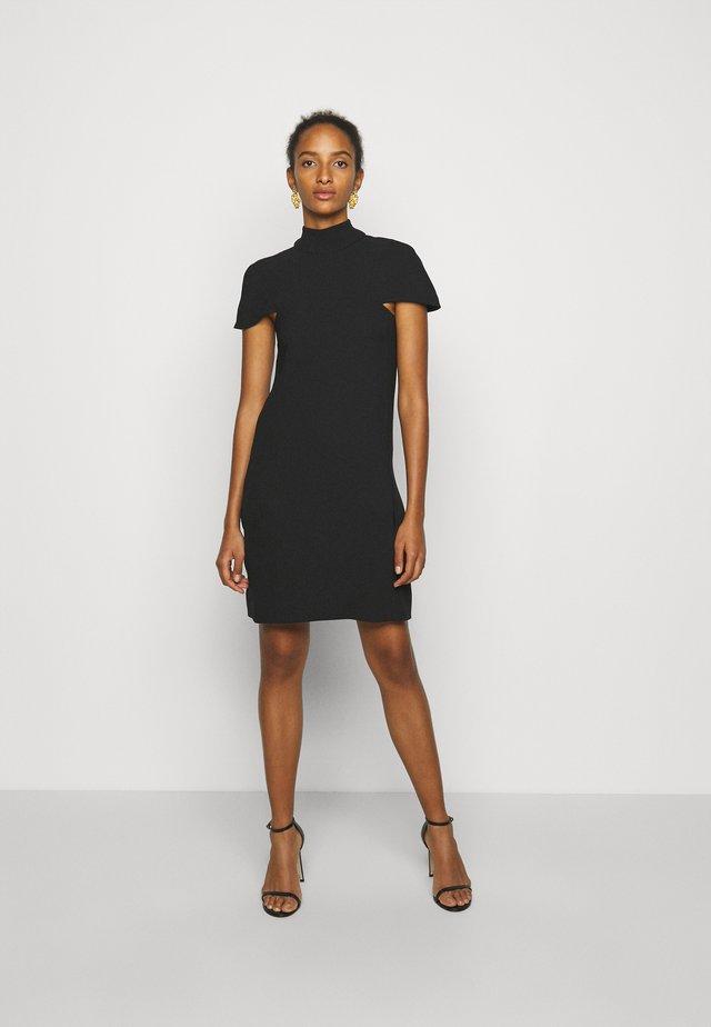 CAPE DETAIL SOFT DRESS - Denní šaty - black
