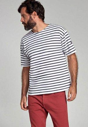 THEVIEC MARINIÈRE - Print T-shirt - blanc navire