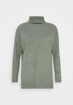 LONG LINE ROLL NECK - Strikkegenser - green