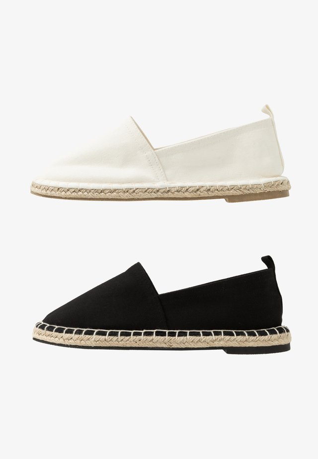 2 PACK  - Espadrillas - black/white