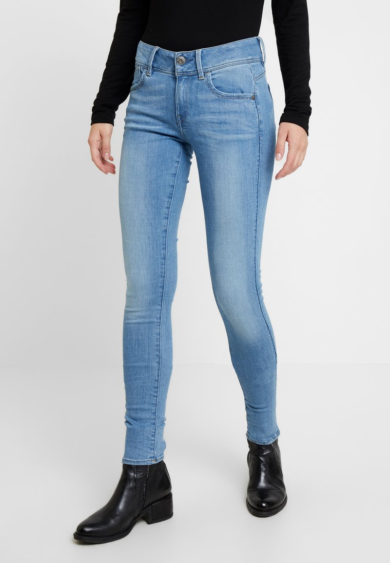 G-Star - LYNN MID SUPER SKINNY  - Jeans Skinny Fit - sun faded blue