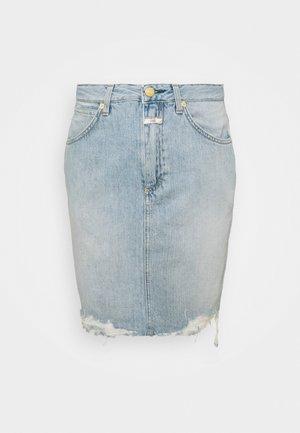 SHEMMETT - Mini skirt - mid blue