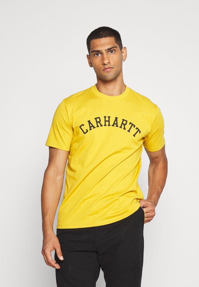UNIVERSITY  - T-shirt imprimé - colza/black