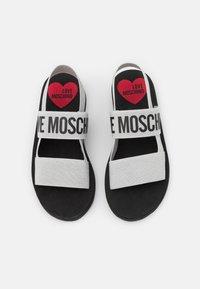 Love Moschino - Wedge sandals - argento - 4