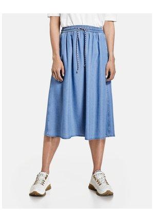 A-line skirt - blau denim mit use