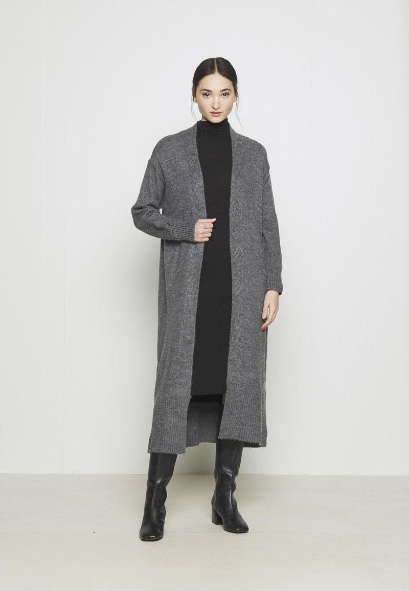 YAS - Kardigan - dark grey melange