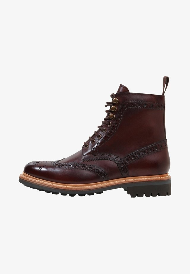 FRED - Botines con cordones - brown