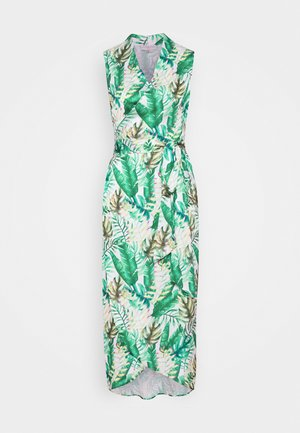 PALM WRAP MIDI DRESS - Korte jurk - green