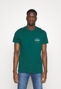 Levi's® - CREWNECK GRAPHIC 2 PACK - T-shirts med print - forest biome/curds and whey - 3