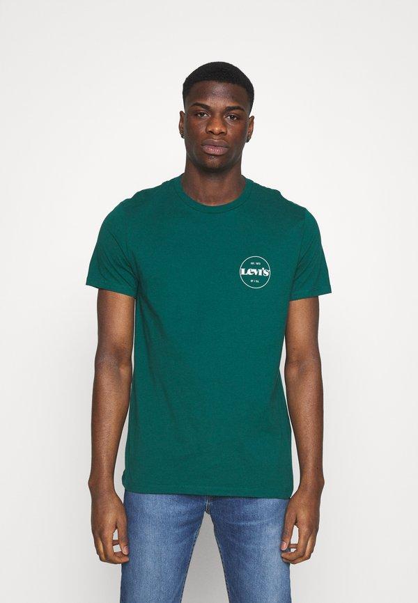 Levi's® 2PACK - T-shirt z nadrukiem - forest biome/curds and whey/zielony Odzież Męska UABB