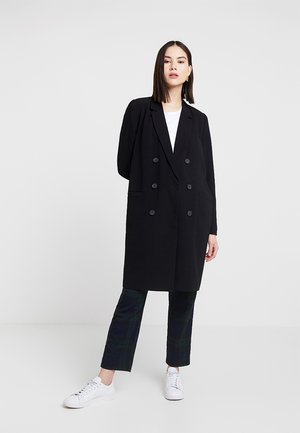 OBJBEAU LONG COAT - Classic coat - black