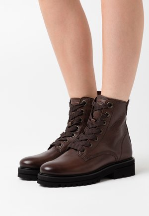 LICIA - Platform ankle boots - dark brown