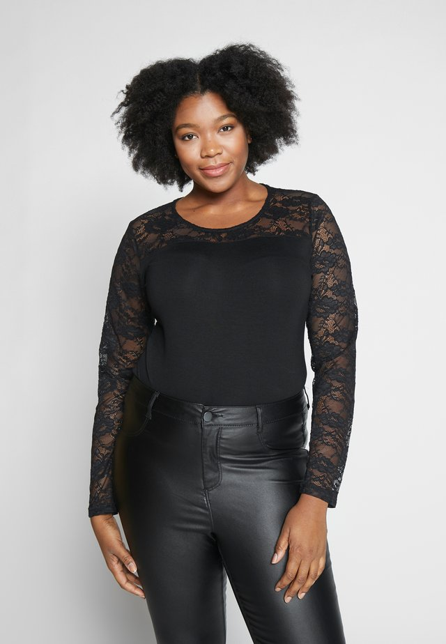 KCLAURA BLOUSE - Long sleeved top - black deep