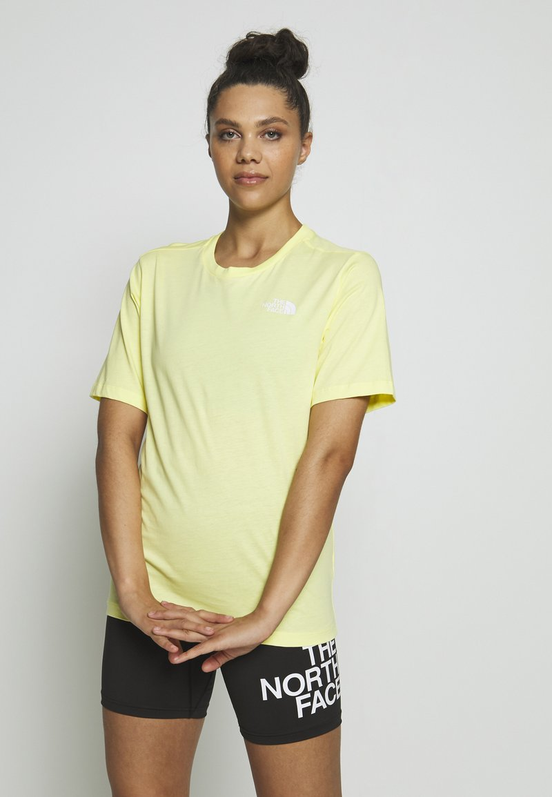 The North Face - W BF SIMPLE DOME - T-shirts - stinger yellow
