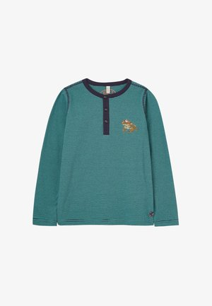 Long sleeved top - marineblau grüne streifen