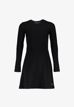 AUDREY  - Gebreide jurk - zwart