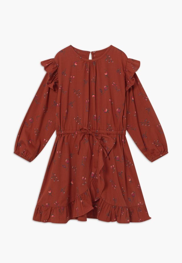 Day dress - red ochre