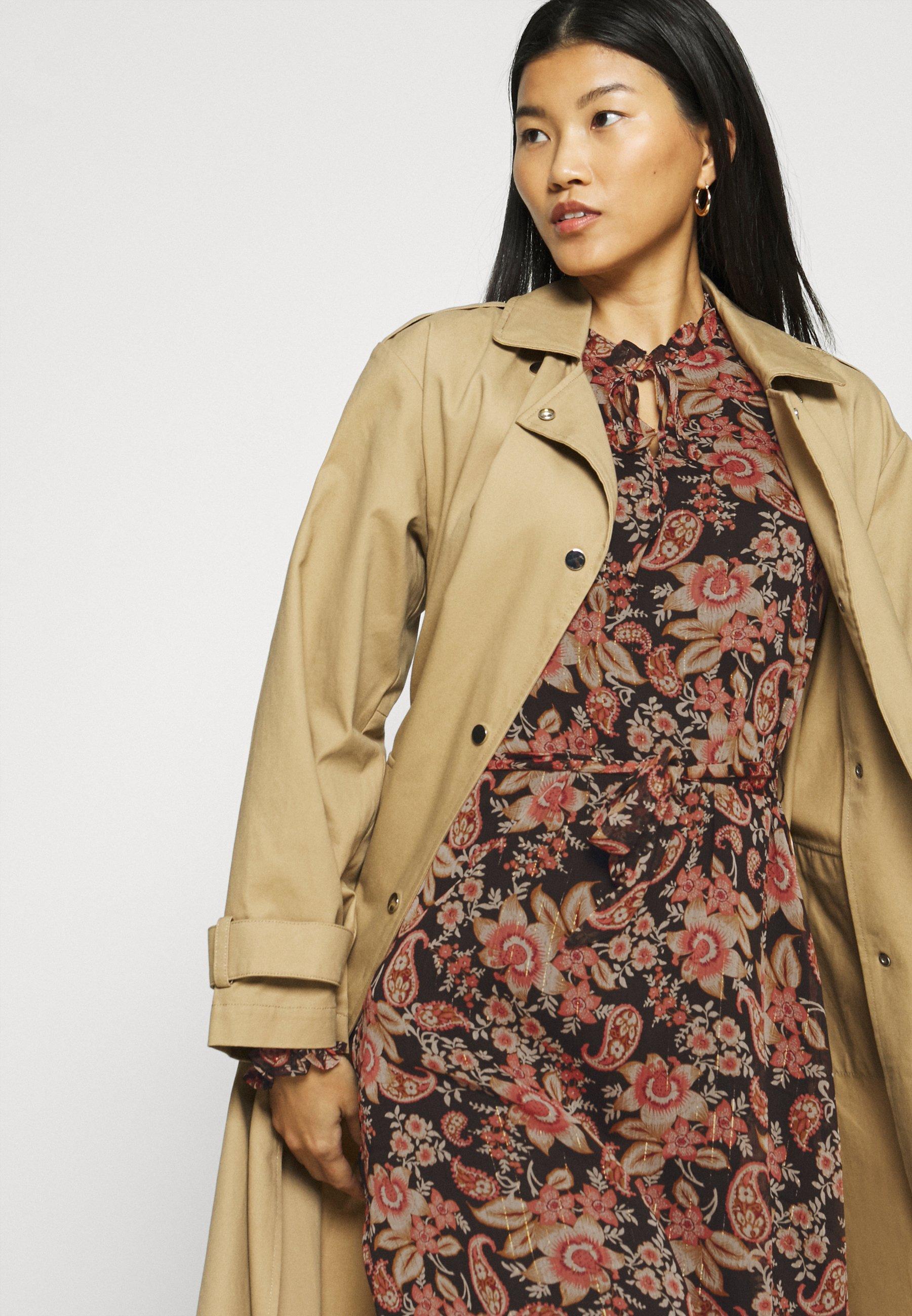 Esqualo DRESS FLOWER PRINT Freizeitkleid multicoloured/mehrfarbig