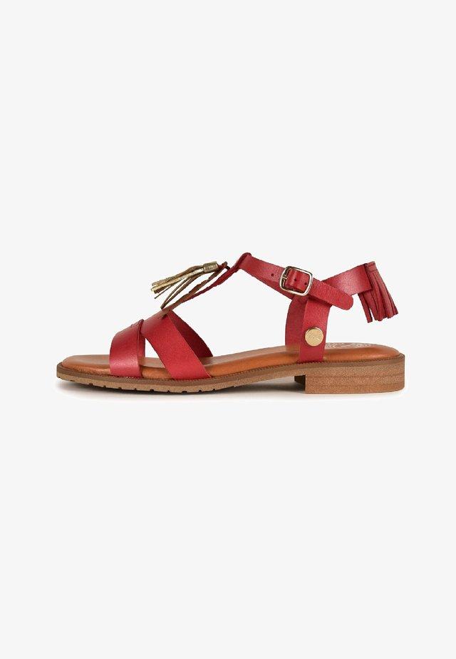 ARTEMIS - T-bar sandals - red