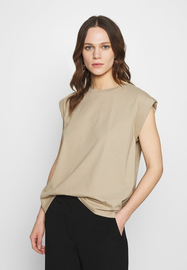 PORTER - T-shirt basic - concrete
