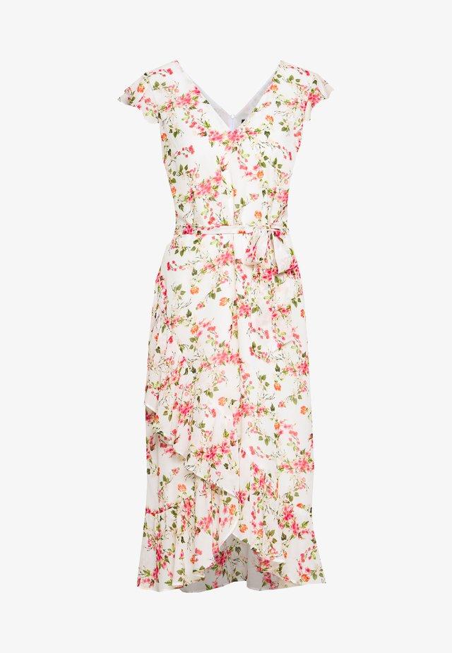 FLOWER CHAIN RUFFLE DRESS - Robe d'été - ivory