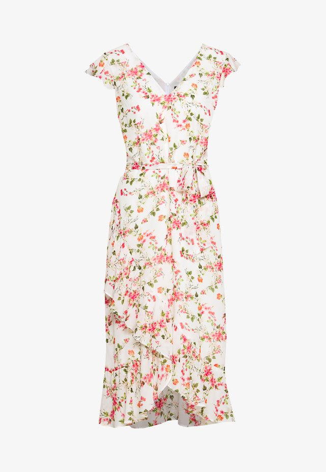 FLOWER CHAIN RUFFLE DRESS - Vapaa-ajan mekko - ivory