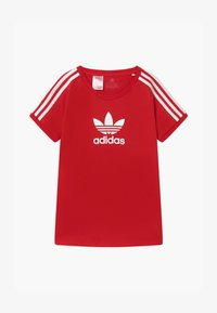 adidas Originals - TEE UNISEX - T-shirt con stampa - scarle/white - 0