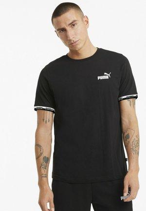 AMPLIFIED TEE - Print T-shirt - puma black