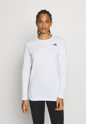 WOMENS SIMPLE DOME TEE - Topper langermet - white