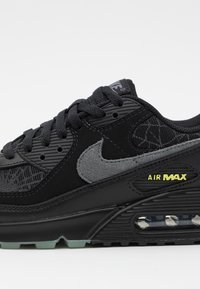 Nike Sportswear - AIR MAX 90 UNISEX - Trainers - black/smoke grey/limelight - 7
