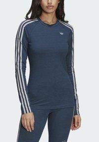 adidas Originals - FAKTEN LONG SLEEVE TEE - Long sleeved top - blue - 3