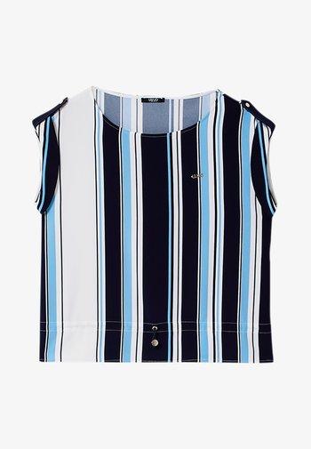 T-shirt z nadrukiem - stripes blue