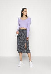 Hollister Co. - SLIP SKIRT - A-line skirt - navy - 1