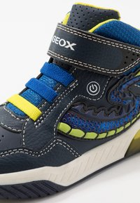 Geox - INEK BOY - High-top trainers - navy/lime - 5