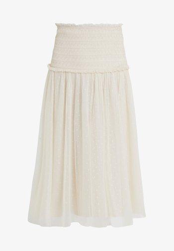 SMOCKED KISSES BALLERINA SKIRT - Pencil skirt - champagne