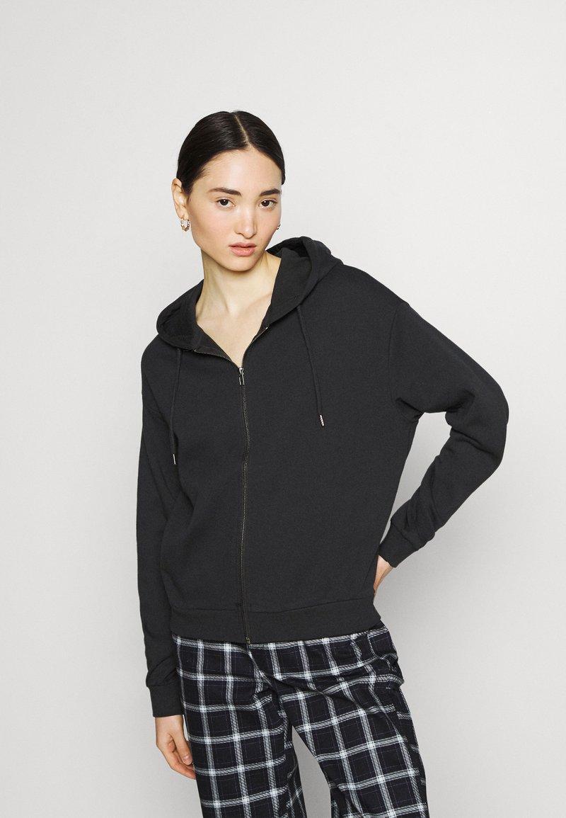 Even&Odd - Zip-up sweatshirt - black