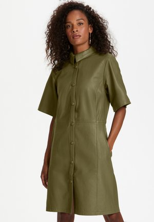 Shirt dress - capers