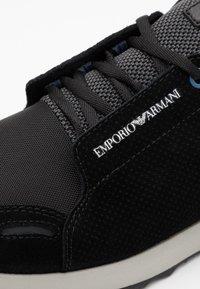 Emporio Armani - Sneakers laag - black/grey - 5