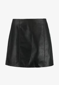 Dorothy Perkins Curve - SEAM DETAIL MINI SKIRT - A-line skirt - black - 3
